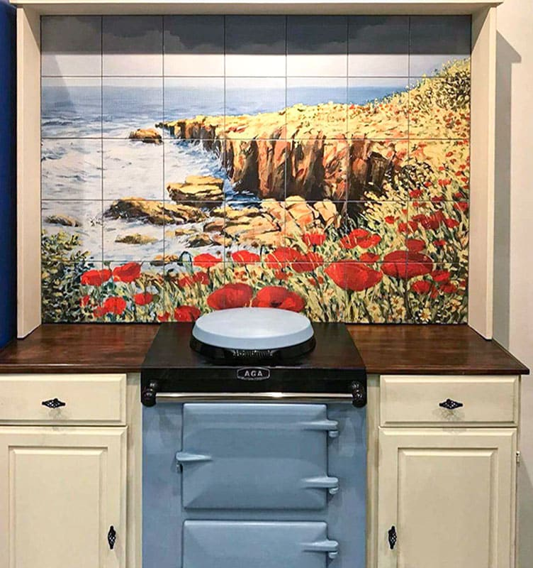 Tiles Behind an Aga Cooker